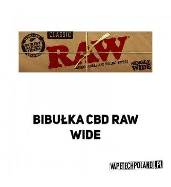 Bibułka RAW Single Wide BibułkiRaw Classic Single Wide to naturalne bibułki zawierające mieszankę włókien niechlorowanych i ni