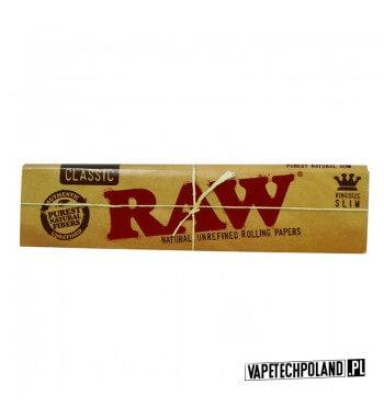 Bibułka RAW King Size Slim Bibułki Raw Classic King Size Slim to naturalne bibułki zawierające mieszankę włókien niechlorowanyc