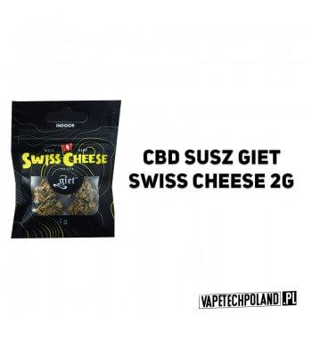 Susz Giet 2g - Swiss Cheese SWISS CHEESE JEST WYNIKIEM SWISS SKUNK I ODMIANY POCHODZĄCEJ Z NEPALU. DOMINUJĄCA W SZCZEPIE INDICA