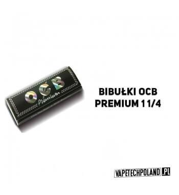 Bletki/Bibułki OCB Premium 1 1/4 Czarna bibułka ocb premium w rozmiarze 1/4 dokładnie 78 x 44 mm. Bibułka przezroczysta z holog