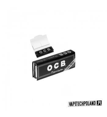 Bletki/Bibułki OCB Premium 1 1/4 + Filtry Bibułki marki OCB Premium w rozmiarze 1 1/4 z dodatkowymi filtrami kartonowymi zamkni