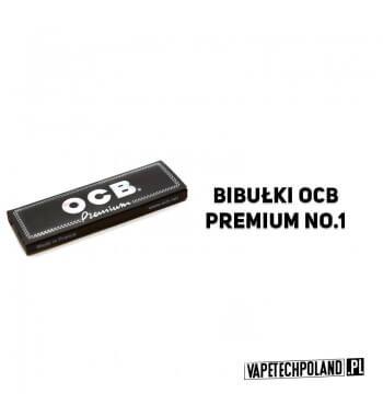 Bletki/Bibułki OCB Premium No. 1 Bibułki w czarnym opakowaniu, bardzo cienkie wręcz przezroczyste. W zestawie znajduje się 50 l
