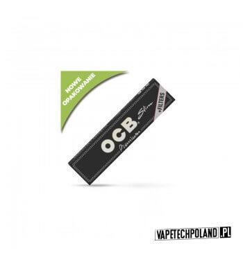 Bletki/Bibułki OCB Slim Premium + Filtry Wykonane z naturalnego papieru lnianego z dodatkiem gumy arabskiej, opatrzone znakiem