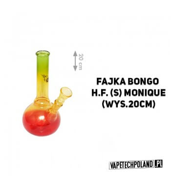Fajka Bongo H.F. Monique - 20cm Fajka wodna typu bongo, szklana, transparentna.Wysokość 20 cm. 2