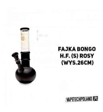 Fajka Bongo H.F. Rosy - 26cm Fajka wodna typu bongo, szklana, czarno-biała.Wysokość 26 cm. 2