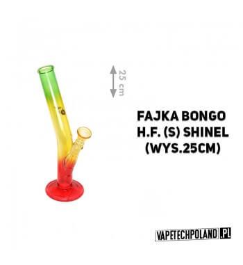 Fajka Bongo H.F. Shinel - 25cm Fajka wodna typu bongo, szklana, transparentna.Wysokość 25 cm. 2