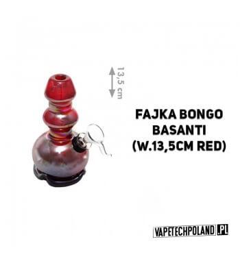 Fajka Bongo H.F. Basanti - 13,5cm Marka High Fly. Fajka wodna typu bongo wykonana z grubego szkła barwionego. Wysokość fajki: