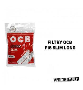 Filtry OCB fi6 Slim Long Wysokiej jakości filtry w rozmiarze SLIM. Wymiary: 20x6 mm. Pakowane po 100 sztuk. 2