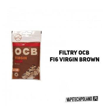 Filtry OCB fi6 Slim Virgin Brown Wysokiej jakości filtry w rozmiarze SLIM. Wymiary: 15x6 mm. Pakowane po 150 sztuk w torebki st