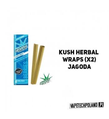 Kush Herbal Wraps x2 - Berries Wolnopalące, aromatyzowane owijki papierosowe. Wykonane z kanadyjskich konopi.Zwinięte w specjal