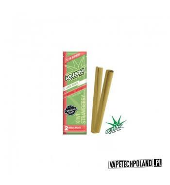 Kush Herbal Wraps x2 - Kiwi/Strawberry Wolnopalące, aromatyzowane owijki papierosowe. Wykonane z kanadyjskich konopi.Zwinięte w