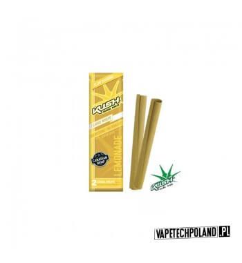 Kush Herbal Wraps x2 - Lemonade Wolnopalące, aromatyzowane owijki papierosowe. Wykonane z kanadyjskich konopi.Zwinięte w specja