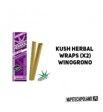Kush Herbal Wraps x2 - Mixed Grape Wolnopalące, aromatyzowane owijki papierosowe. Wykonane z kanadyjskich konopi.Zwinięte w spe