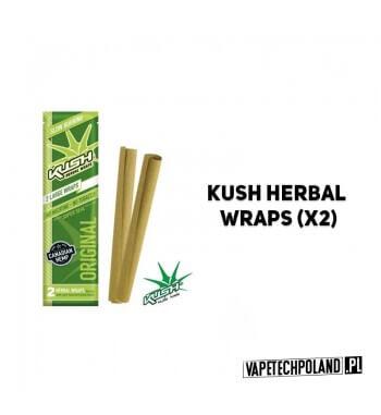 Kush Herbal Wraps x2 - Original Wolnopalące, aromatyzowane owijki papierosowe. Wykonane z kanadyjskich konopi.Zwinięte w specja