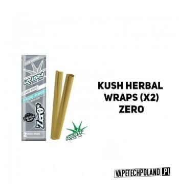 Kush Herbal Wraps x2 - Zero Wolnopalące, aromatyzowane owijki papierosowe. Wykonane z kanadyjskich konopi.W pojedynczym opakowa