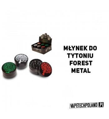 Grinder/Młynek do tytoniu - Forest Metal Metalowy młynek do tytoniu z motywem drzewa.Wysokość 2,5 cm.Średnica 4 cm. 2
