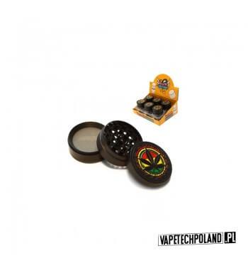 Grinder/Młynek do tytoniu - Reggae Metal 4-częściowy, metalowy młynek do tytoniu. Zawiera nakrętkę, zęby do mielenia tytoniu or