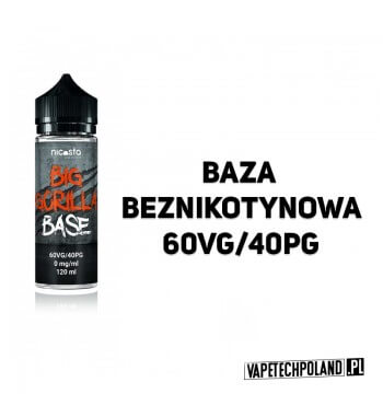BAZA BIG GORILLA 120ML - 60VG/40PG 0MG BAZA BEZNIKOTYNOWA BIG GORILLA 120ML 2