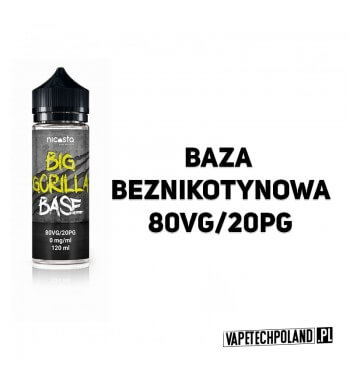 BAZA BIG GORILLA 120ML - 80VG/20PG 0MG BAZA BEZNIKOTYNOWA BIG GORILLA 120ML 2