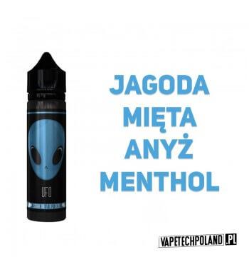 Premix UFO - Blue 40ML UFO to Premixy do e-papierosów o pojemności 40ml w butelce 60ml typu gorilla. Aromaty: jagoda, mięta, an