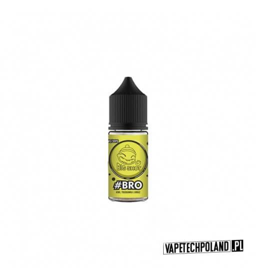 Premix BIG SHOT - BRO 20ML Połączenie kiwi, truskawki i arbuza! 20ml płynu w butelce o pojemności 30ml. Produkt Shake and Vape