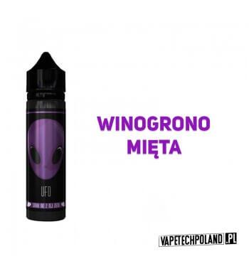 Premix UFO - Purple 40ML UFO to Premixy do e-papierosów o pojemności 40ml w butelce 60ml typu gorilla. Aromaty: winogrono, mięt