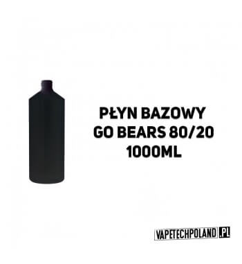 Płyn Bazowy GoBears 80VG/20PG 1000ML Płyn Bazowy GoBears 80VG/20PG 1000ML 2