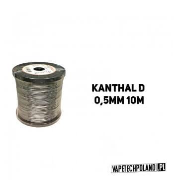 Drut oporowy KANTHAL D 0,5MM 10M Drut oporowy KANTHAL D 0,5MM 10M 1szt zawiera 10m drutu. 1