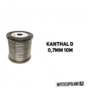 Drut oporowy KANTHAL D 0,7MM 10M Drut oporowy KANTHAL D 0,7MM 10M 1szt zawiera 10m drutu. 1