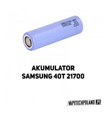 Akumulator Samsung 40T 21700 4000MAH ORYGINALNY akumulator 21700 Li-ion Samsung INR21700-40T, pojemność 4000mAh. 2