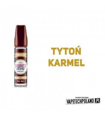 DINNER LADY - Caramel Tobacco 50ML Premix o smaku tytoniu z karmelem. 50ml płynu w butelce o pojemności 60ml. Produkt Shake and