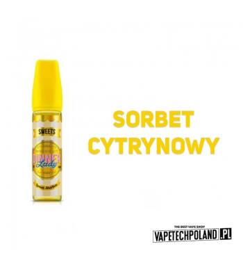 DINNER LADY - Lemon Sherbets 50ML Premix o smaku sorbetu cytrynowego. 50ml płynu w butelce o pojemności 60ml. Produkt Shake and