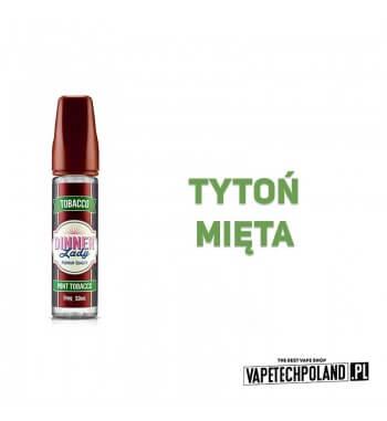 DINNER LADY - Mint Tobacco 50ML Premix o smaku tytoniu i mięty. 50ml płynu w butelce o pojemności 60ml. Produkt Shake and Vape
