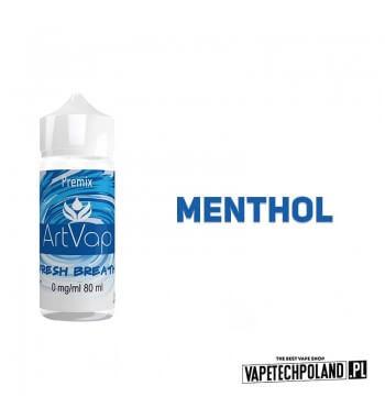 Premix Artvap - Fresh Breath 80ML Premix o smaku mentholowym. 80ml płynu w butelce o pojemności 120ml.Produkt Shake and Vape