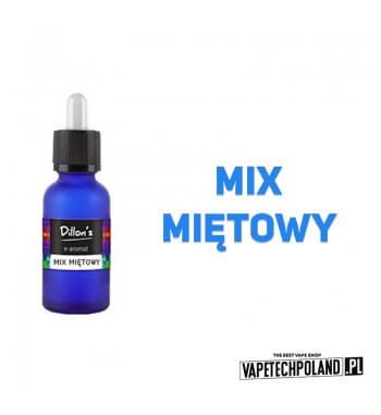 Aromat Dillons - Mix Miętowy 15ml Aromat o smaku mix'u miętowego.  Sugerowane dozowanie: 7-15% Pojemność: 15ml Kwota podatku a
