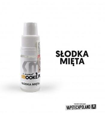 Aromat SMOOKE 10ML - Słodka Mięta Aromat o smaku słodkiej mięty. Pojemność : 10ML Kwota podatku akcyzowego : 6,76 zł brutto. 1