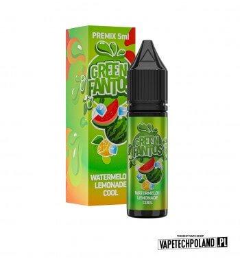 PREMIX FANTOS - GREEN FANTOS 5ML chłodząca lemoniada o smakuarbuzowym PREMIX 5/15ML NOWA FORMA PRODUKTU,KTÓRA WYMAGA OD CIEBI