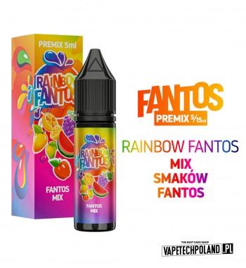 PREMIX FANTOS - RAINBOW FANTOS 5ML szalone połączenie wszystkich smaków serii fantos PREMIX 5/15ML NOWA FORMA PRODUKTU,KTÓRA W