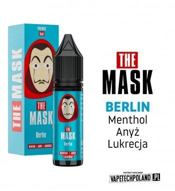 PREMIX THE MASK - BERLIN 5ML premix o smakumentholu, anyżu i lukrecji PREMIX 5/15ML NOWA FORMA PRODUKTU,KTÓRA WYMAGA OD CIEBI
