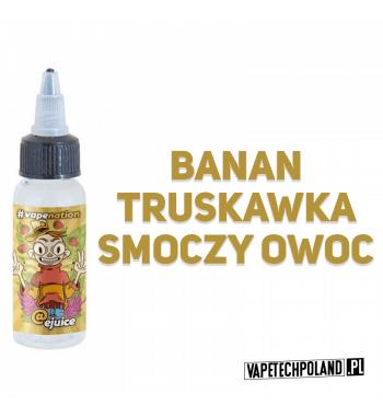 Premix VAPENATION - MONKEY 50ML Banan z truskawką i posmakiem smoczego owocu. 50ml płynu w butelce o pojemności 60ml.Produkt