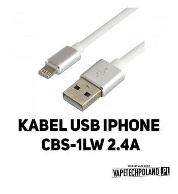 Kabel USB IPHONE CBS-1IW 2.4A Kabel USB - Iphone Kabel wykonany z bardzo elastycznego i wytrzymałegosilikonu, odpornego na zni