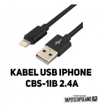 Kabel USB IPHONE CBS-1IB 2.4A Kabel USB - Iphone Kabel wykonany z bardzo elastycznego i wytrzymałegosilikonu, odpornego na zni