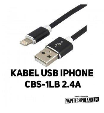 Kabel USB IPHONE CBB-1IB 2.4A Kabel USB-IPhone Wysoka wydajność -wsparcie dla szybkiego ładowania Apple 2.4APlecionka nylonowa