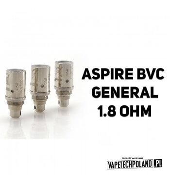 Grzałka - Aspire BVC General - 1.8ohm Grzałka - Aspire BVC General - 1.8ohm Pasuje do następujących sprzętów: - clearmizer Aspi