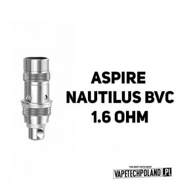 Grzałka - Aspire Nautilus BVC - 1.6ohm Grzałka - Aspire Nautilus BVC - 1.6ohm Pasuje do następujących sprzętów: -atomizer Aspi