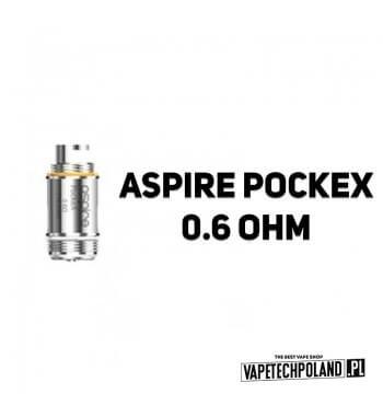 Grzałka - Aspire PockeX - 0.6ohm Grzałka - Aspire PockeX - 0.6ohm Pasuje do następujących sprzętów: -Aspire PockeX Aio Kit 2