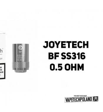 Grzałka - Joyetech BF SS316 - 0.5ohm Grzałka - Joyetech BF SS316 - 0.5ohm Grzałka pasuję do następujących sprzętów: -Joyetech C