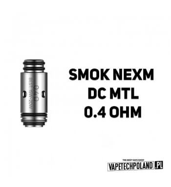 Grzałka - Smok NexM DC MTL- 0.4ohm Grzałka - Smok NexM DC MTL- 0.4ohm Grzałka pasuję do następujących sprzętów: -NexM Pod 2