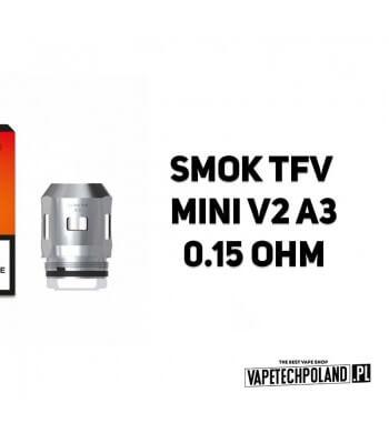 Grzałka - Smok TFV Mini V2 A3 - 0.15ohm Grzałka - Smok TFV Mini V2 A3 - 0.15ohm Grzałka pasuję do następujących sprzętów: - Smo