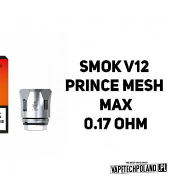 Grzałka - Smok V12 Prince Mesh Max - 0.17ohm Grzałka - Smok V12 Prince Mesh Max - 0.17ohm Grzałka pasuję do następujących sprzę